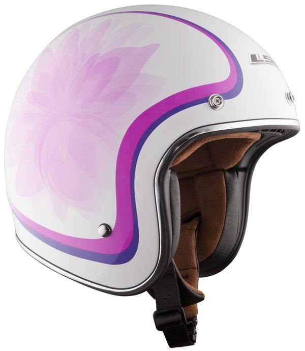 Helmet LS2 OF583 Fiber Glow white pink