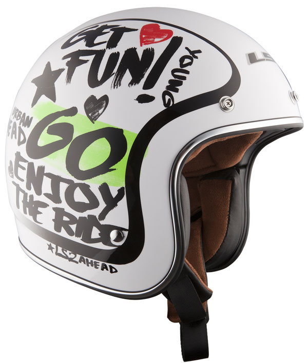 Casco jet LS2 OF583 in fibra Enjoy bianco