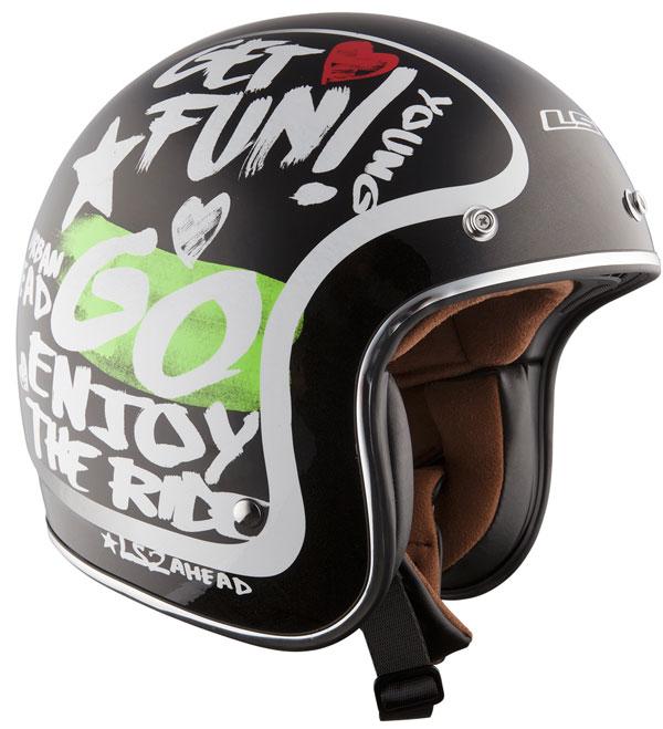 Helmet LS2 OF583 fiber Enjoy black