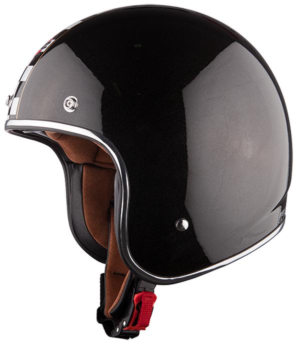 Jet helmet LS2 OF583 Flagman Black White
