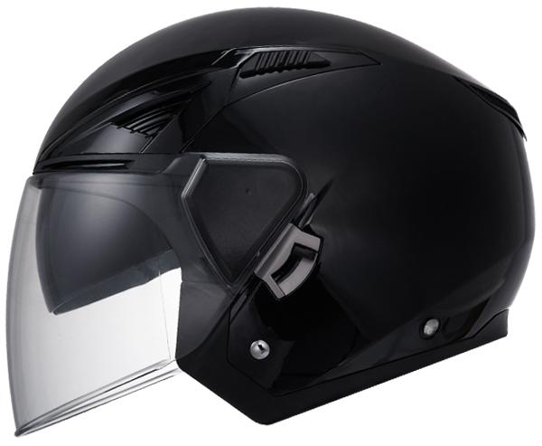 Jet helmet LS2 OF586 Bishop Matte Black