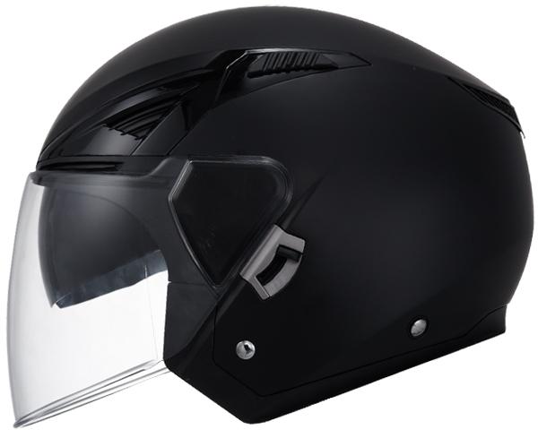Jet helmet LS2 OF586 Black Bishop