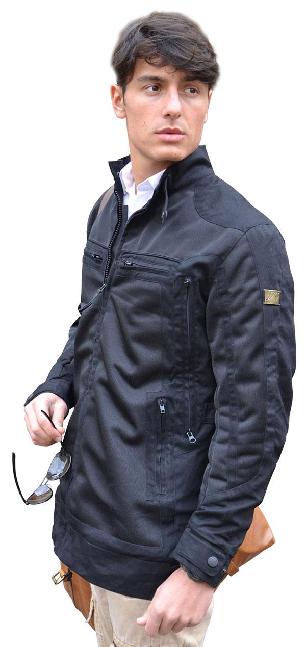 Black motorcycle jacket Jollisport Area