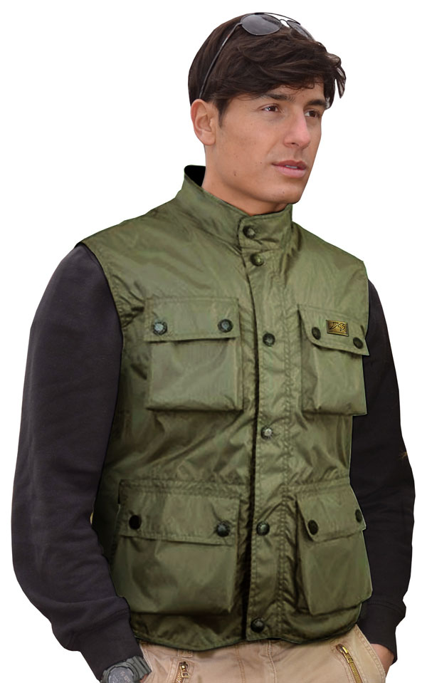 Paul army green vest Jollisport