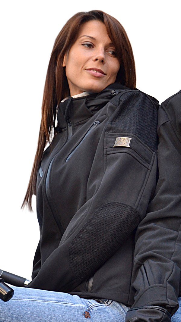 Motorcycle jacket woman in Jollisport Diva Softshell Black