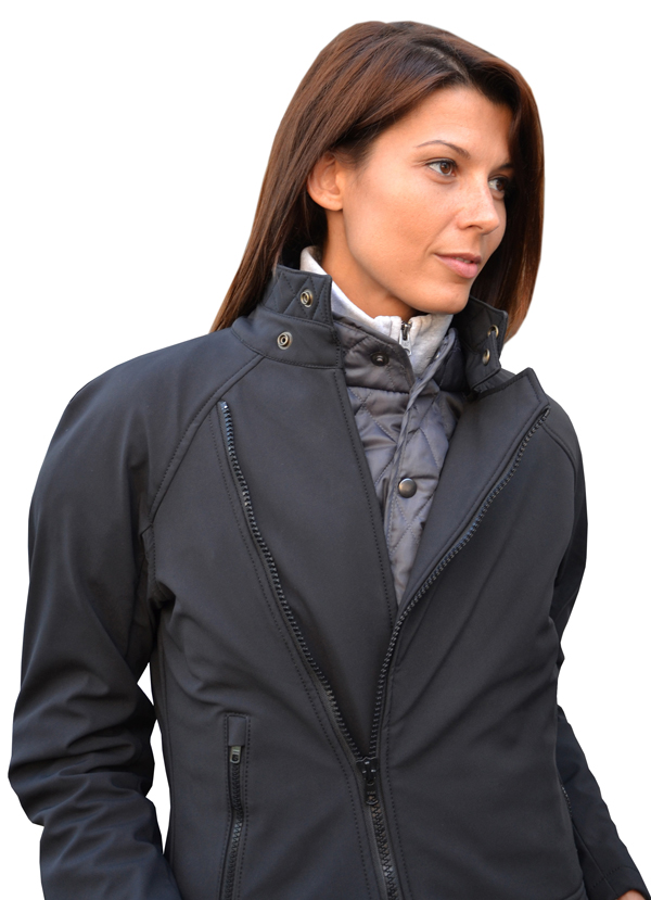 Women jacket in softshell Jollisport Lady B Black