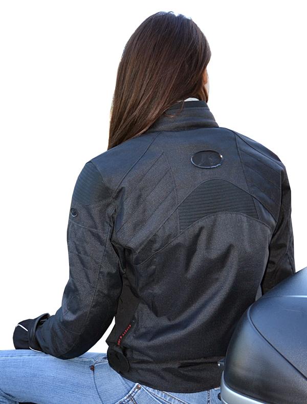 Giacca moto donna Jollisport Oana Nero