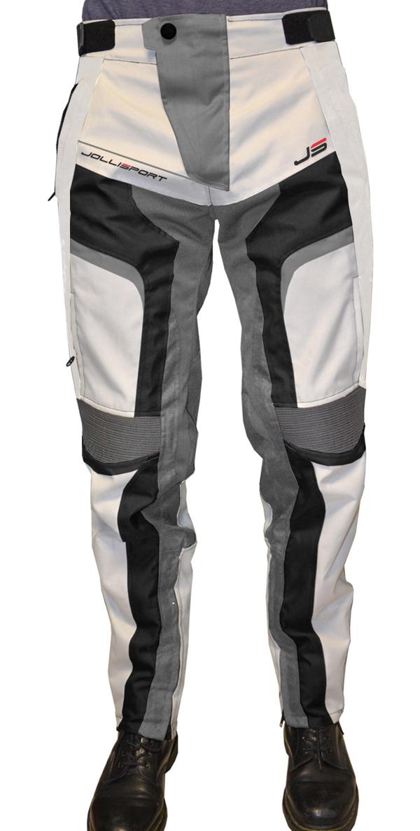 Pantaloni moto Jollisport STJ Beige Nero Ghiaccio