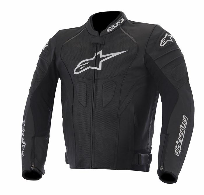 Giacca moto pelle traforata Alpinestars GP Plus R nera