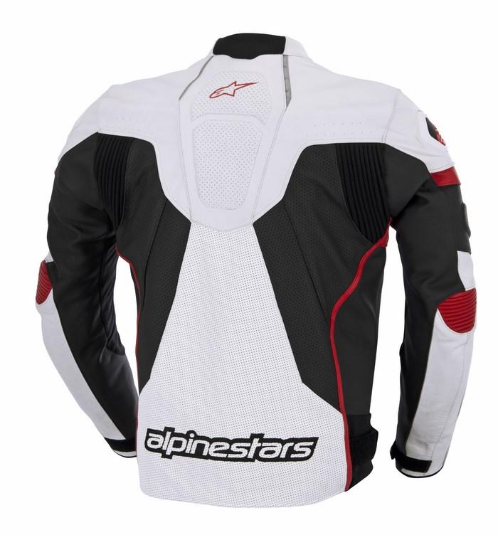 Giacca moto pelle traforata Alpinestars GP Plus R bianco nero ro