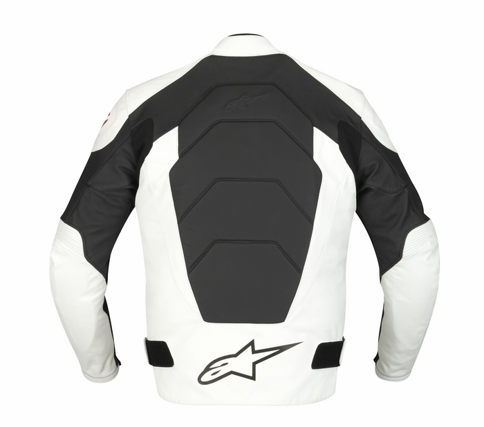 Alpinestars GP Plus Leather Motorcycle Jacket White Black