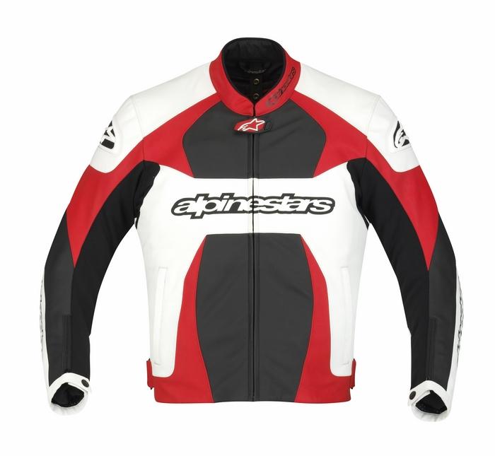 Giacca moto pelle Alpinestars GP Plus Bianco Rosso Nero