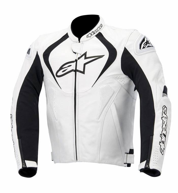 Alpinestars Jaws leather jacket white