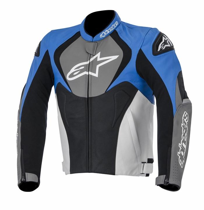 Alpinestars Jaws leather jacket blue anthracite black