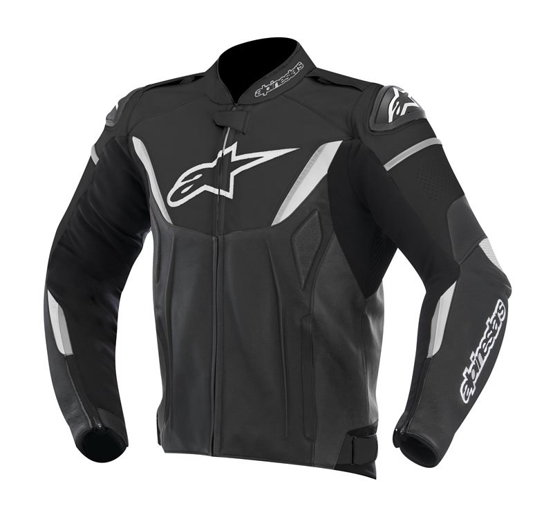 Alpinestars GP R leather jacket Black White