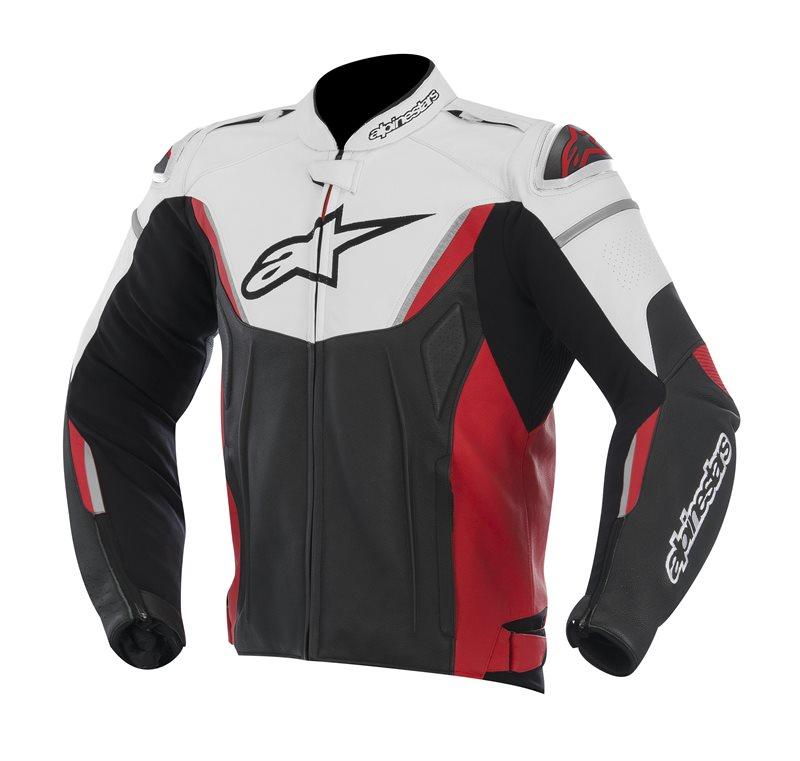 Giacca moto pelle Alpinestars GP R Nero Bianco Rosso