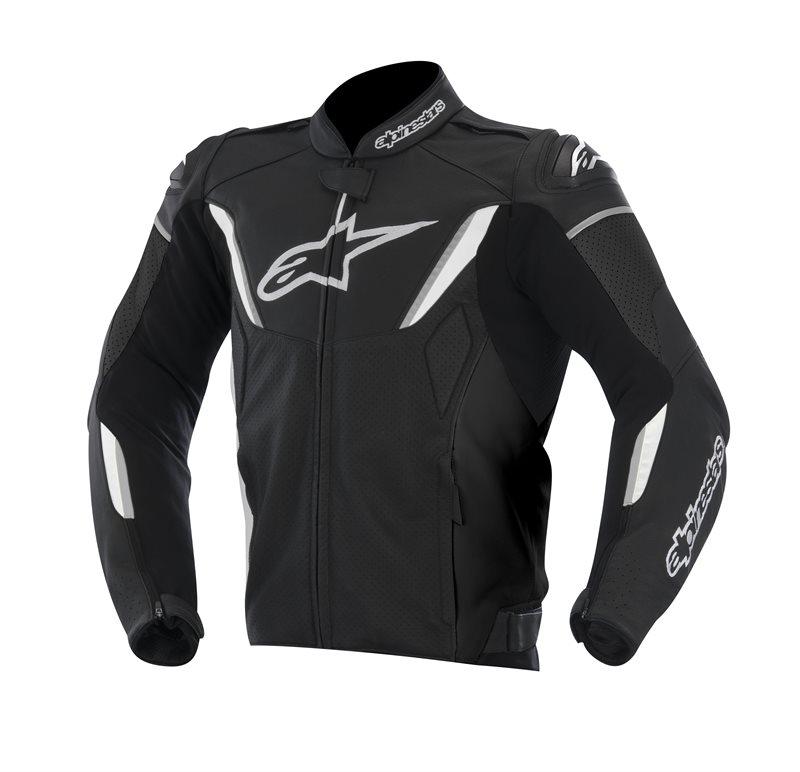 Alpinestars GP R summer leather jacket Black White