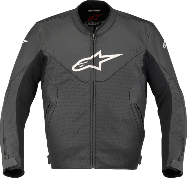 Alpinestars Indy leather motorcycle jacket black