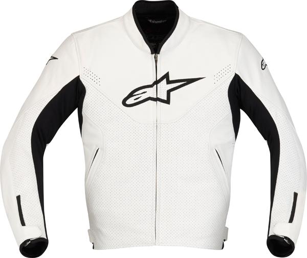Alpinestars Indy leather motorcycle jacket white