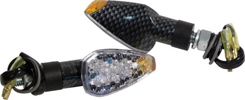 Directional led light carbon look