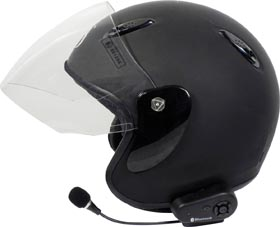 Intercom with Bluetooth for one helmet