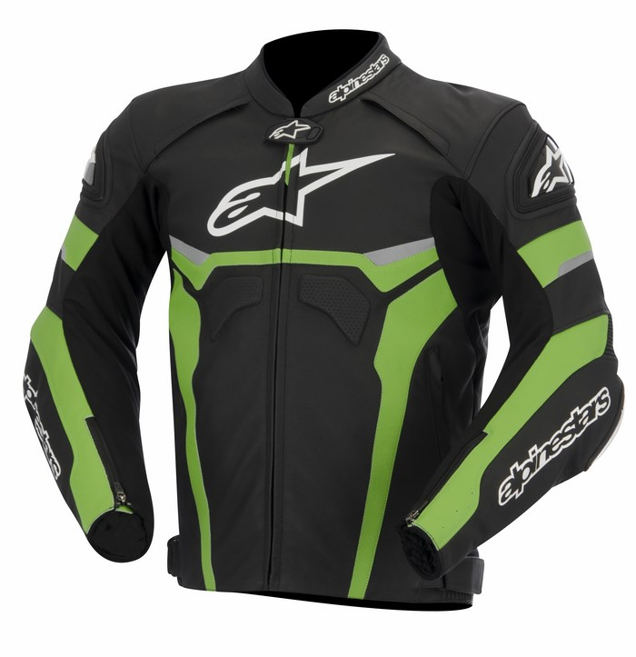 Alpinestars Celer leather jacket black white green