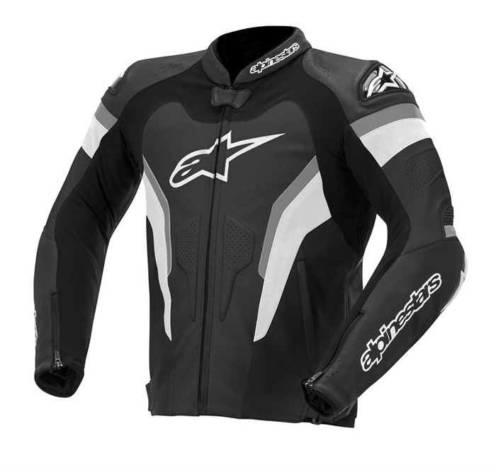 Alpinestars GP Pro leather motorcycle jacket Black Anthracite