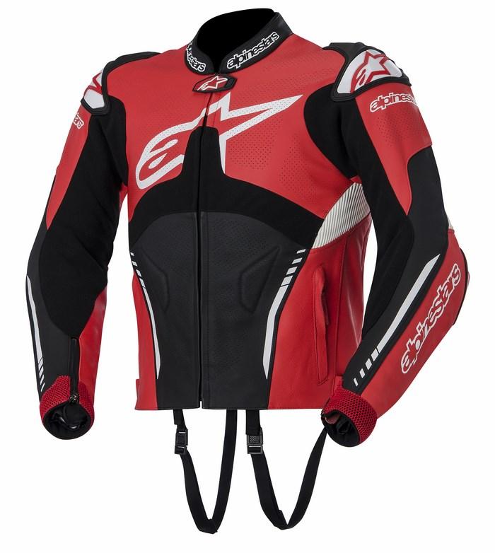 Alpinestars Atem leather jacket red black white