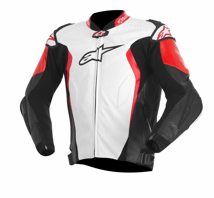 Alpinestars GP TECH leather jacket white black red