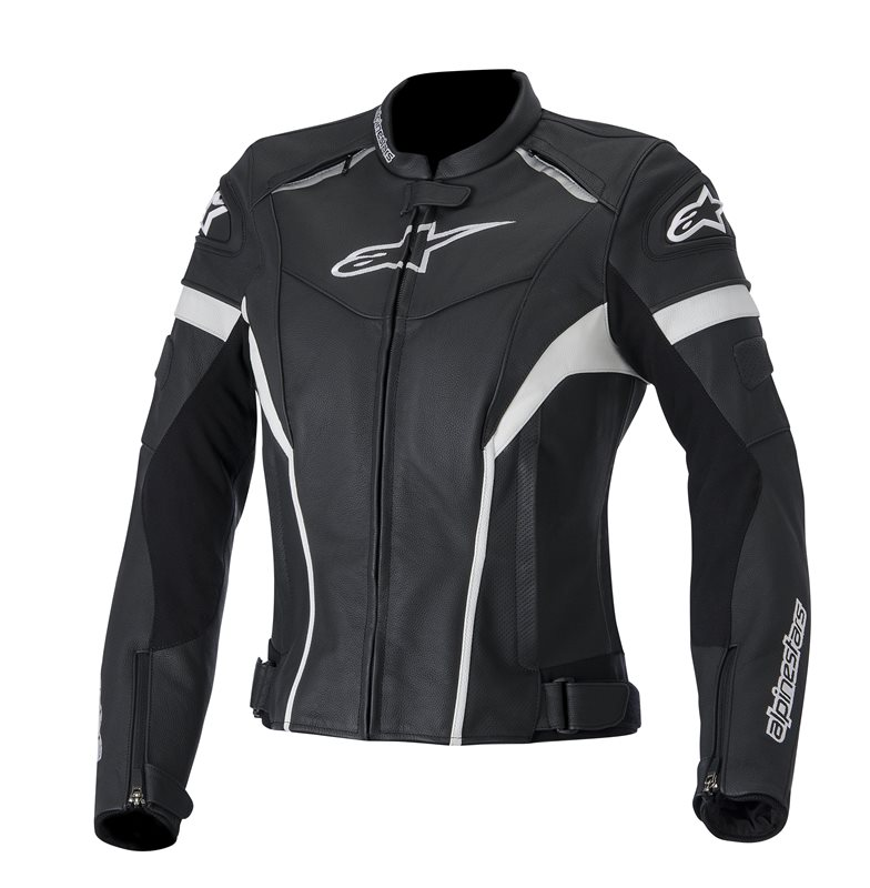 Alpinestars Stella GP Plus R leather woman jackrt Black White