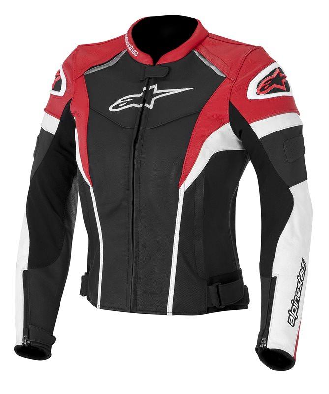 Alpinestars Stella GP Plus R leather woman jackrt Black White Re