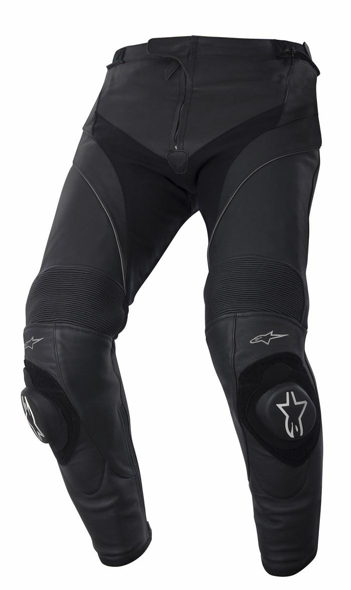 Pantaloni moto pelle Alpinestars Missile neri accorciati