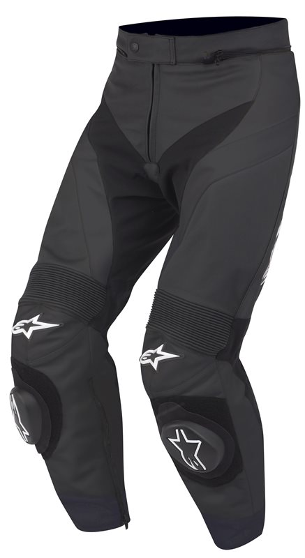 Motorbike Leather Pants Alpinestars GP Plus Black