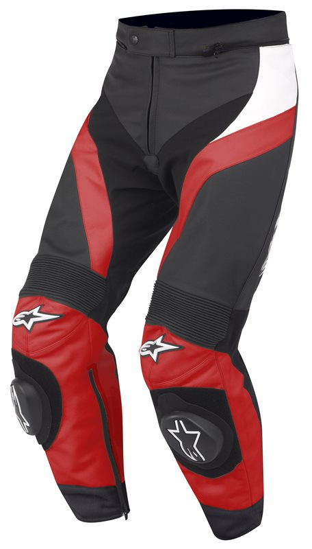 Motorbike Leather Pants Alpinestars GP Plus Red White Black