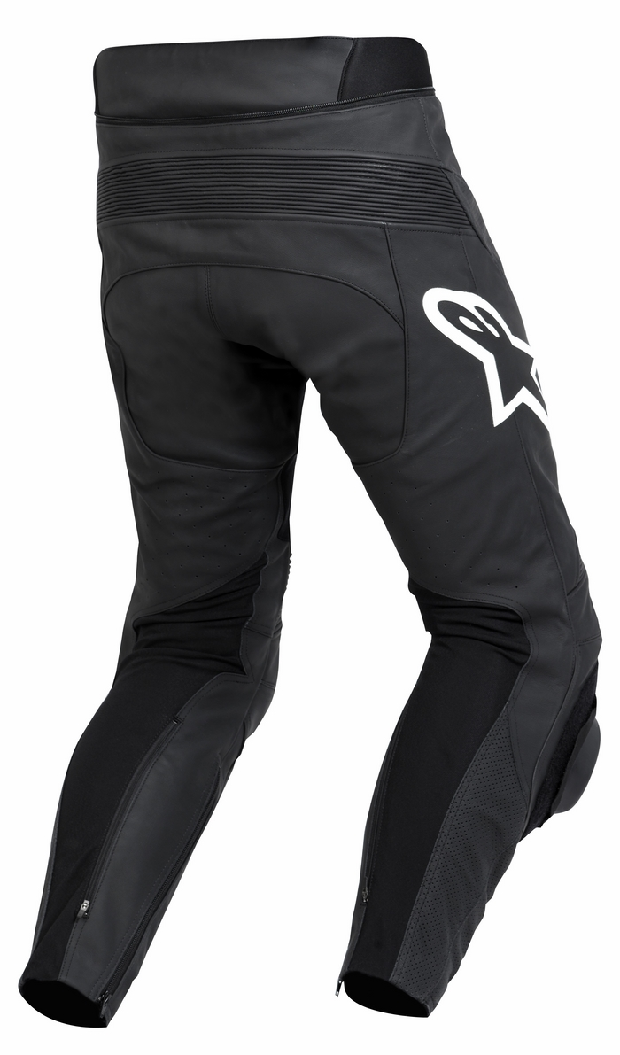 Black leather motorcycle pants Alpinestars Track