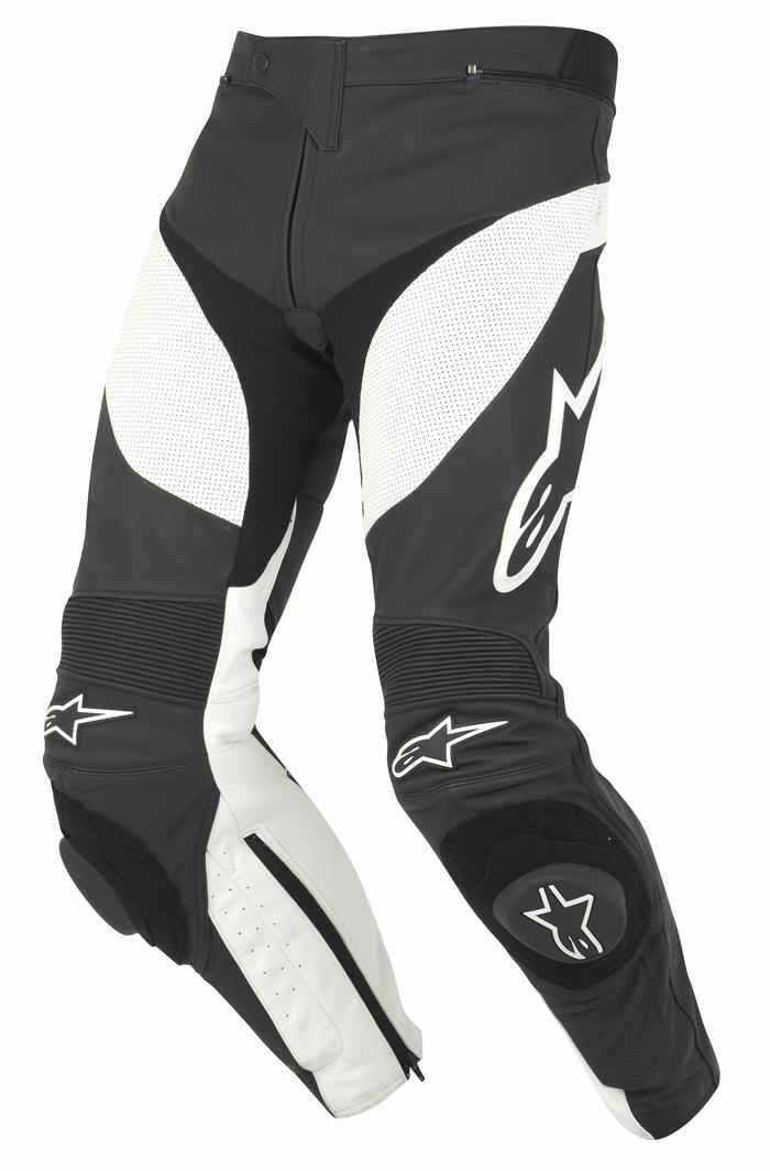 Motorcycle leather Alpinestars Track Pants Black White