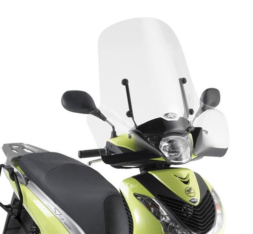Parabrezza Kappa specifico 313A, trasparente 55x66 per Honda SH