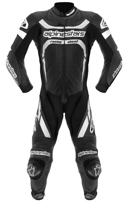 Alpinestars leather motorcycle suit entire Motegi Black White