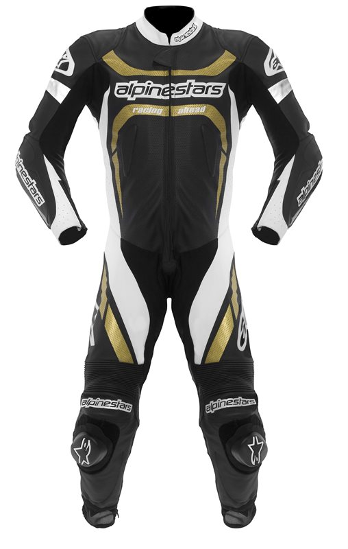 Alpinestars leather motorcycle suit entire Motegi Black White Go