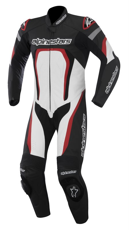 Alpinestars Motegi leather suit Black White Red