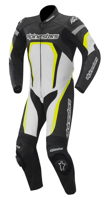 Alpinestars Motegi leather suit Black White Yellow