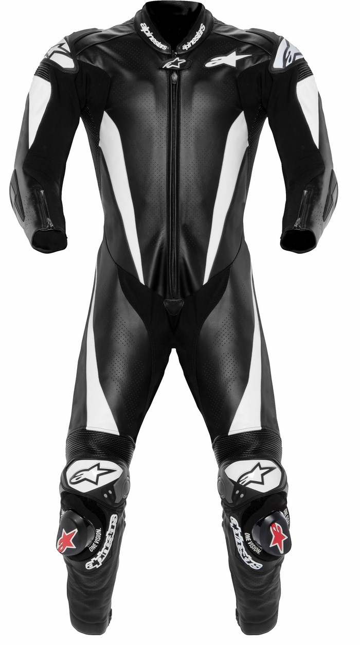 Alpinestars Racing Replica leather biker suit Black White