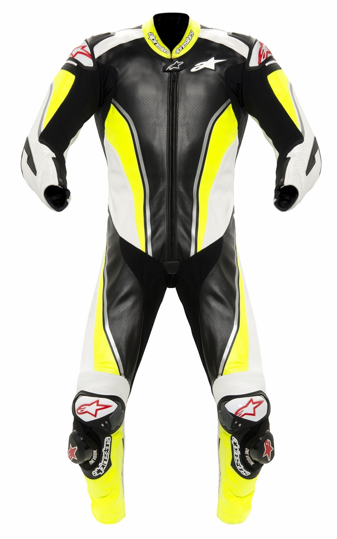 Alpinestars Racing Replica leather biker motorcycle jacket Black