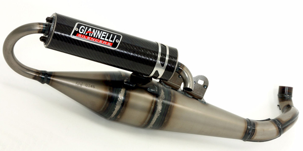 Giannelli exhaust for Gilera and Piaggio scooters