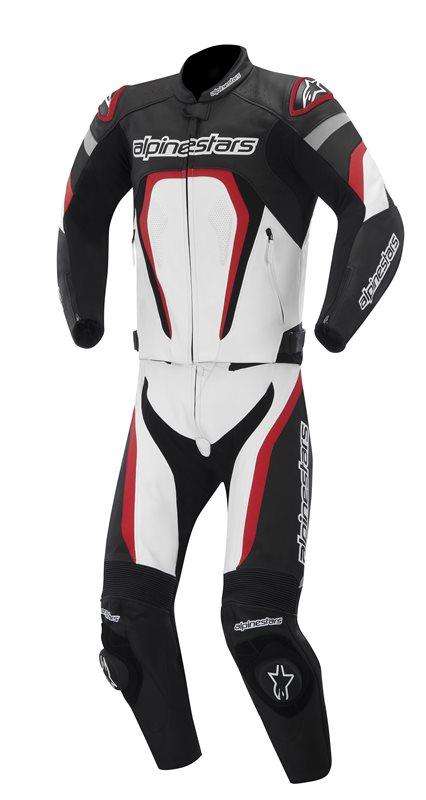 Alpinestars Motegi divisible leather suit Black White Red