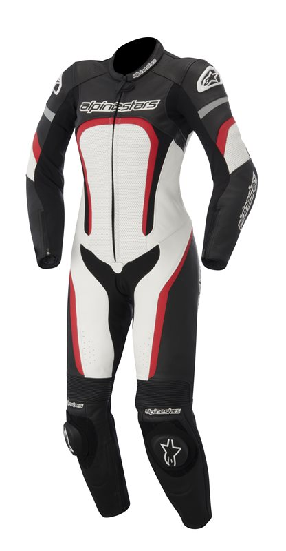Alpinestars Stella Motegi leather woman suit Black White Red