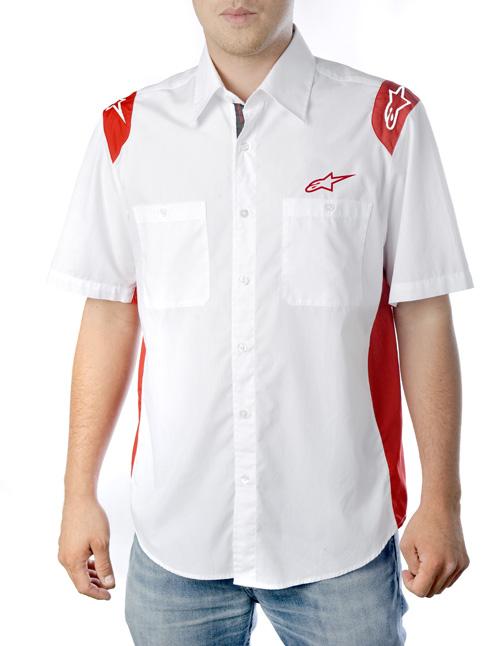 Alpinestars Team Wear SS shirt white-red
