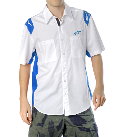 Alpinestars Team Wear SS shirt white-blue