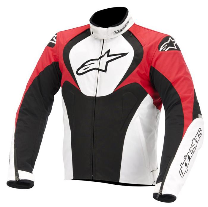 Giacca moto Alpinestars T-Jaws Waterproof Nero Bianco Rosso