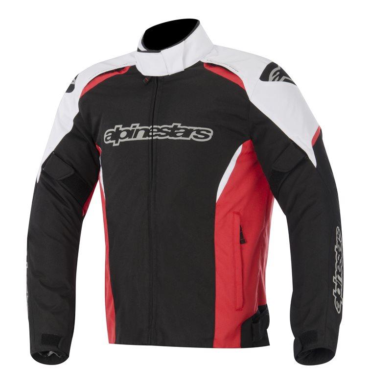 Giacca moto Alpinestars Gunner WP Nero Bianco Rosso